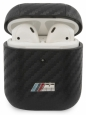 Чехол для AirPods 1/2 BMW M-collection PU carbon effect with metal logo, цвет черный (BMA2CMPUCA)