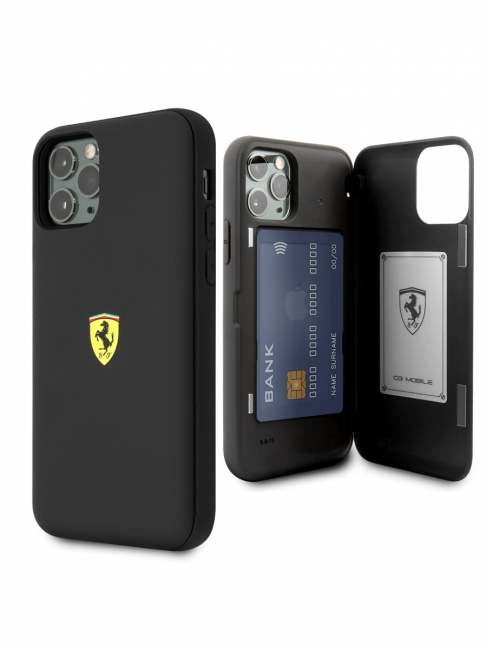 Чехол-накладка для iPhone 11 Pro Ferrari On-Track cardslot magnetic Hard TPU/PC цвет черный FESOPHCN58BK – фото 41271.41