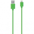 Кабель для iPhone SE/5S/5 / 5C / 6 / 6 Plus, iPad 4 / Air / mini / mini 2 (retina) Belkin Lightning To USB ChargeSync Cable цвет Green (F8J023BT04GRN)