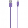 ������ ��� iPhone SE/5S/5 / 5C / 6 / 6 Plus, iPad 4 / Air / mini / mini 2 (retina) Belkin Lightning To USB ChargeSync Cable ���� purple F8J023BT04PUR
