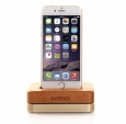 ��������� ��� iPhone ��� iPhone 4 / 4S / 5 / 5S / 6 Samdi Charger Dock ���� wood / Gold