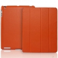 ����� ��� iPad 3 � iPad 4 Jison Smart Leather Case, ���� orange (JS-ID-007AO)