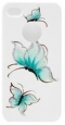 Пластиковый чехол для iPhone 4/4S iCover Pure Butterfly, цвет White/Sky Blue (IP4-HP/W-PB/SB)