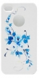 Пластиковый чехол для iPhone 4/4S iCover Vintage Rose, цвет White/Blue (IP4-HP/W-VR/BL)