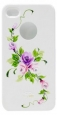 Пластиковый чехол для iPhone 4/4S iCover Vintage Rose, цвет White/Purple (IP4-HP/W-VR/PP)