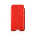 Кожаный чехол для iPod Touch 4G Beyzacases Zero Series Leather Case, цвет красный/flo red (BZ20317)