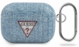 Чехол для AirPods Pro Guess TPU case with ring Denim, цвет голубой/light blue (GUACAPTPUJULLB)