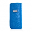 Кожаный чехол для iPhone SE/5S/5 Beyzacases Retro Strap Case, цвет Blue (BZ23110)
