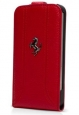Кожаный чехол для iPhone SE/5S/5 Ferrari Flip FF-Collection, цвет red (FEFFFLP5RE)