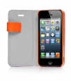 ����� ������ ��� iPhone 5 / 5S Capdase Smart Folder Sider Belt, ���� purple / orange (SFIH5-SB57)