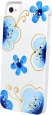 ����������� ����� �� ������ ������ iPhone 5 / 5S iCover Cherry Blossoms, ���� White/Blue (IP5-HP/W-CR/BL)