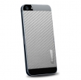 Наклейка на заднюю крышку iPhone SE/5S/5 SGP Skin Guard Leather Set, цвет carbon gray (SGP09570)