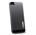 Наклейка на заднюю крышку для iPhone SE/5S/5 SGP Skin Guard Leather Set, цвет carbon black (SGP09571)