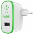 Сетевое зарядное устройство для iPhone, iPod, iPad, Samsung, HTC Belkin USB Home Charger цвет green F8J052VFGRN