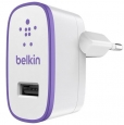 Сетевое зарядное устройство для iPhone, iPod, iPad, Samsung, HTC Belkin USB Home Charger цвет purple F8J052VFPUR