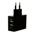 Сетевое зарядное устройство для iPhone, iPad, iPod, Samsung и HTC JUST Thunder Dual USB Wall Charger (2,1A/10Вт, 2USB) цвет black WCHRGR-THNDR-BLCK