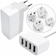 ������� �������� ���������� Capdase Quartet USB Power Adapter Porto V4 World Plug ���� white AD00-7P02