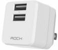 ������� �������� ���������� Rock Mini Tank Travel Charger 2 USB 2,4 A ���� white