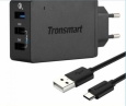 ������������� ������� �������� ���������� Tronsmart 3USB QC2.0 3P Wall Charger TS-WC3PC