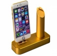 Док-станция для iPhone и Apple Watch COTEetCI Base 1 Charging Cradle цвет gold CS2045-CEG
