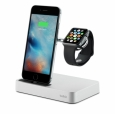 Док-станция для Apple Watch и iPhone Belkin Valet Charge Dock, цвет серебристый (F8J183VFSLV-APL)