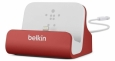 Док-станция для iPhone Belkin Charge + Sync Dock, цвет red (F8J045btRED)