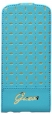 Чехол для iPhone 5C GUESS GIANINA Flip цвет turquoise GUFLPMPET