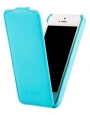 ������� ����� ��� iPhone 5C Melkco  Leather Case Jacka Type, ���� Tiffany Blue LC