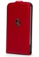 Кожаный чехол для iPhone 5C Ferrari Flip FF-Collection цвет red FEFFFLPMRE