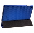 ������� ����� ��� iPad Air Melkco Leather Case Slimme Cover Ver.1 ���� Carbon Fiber Pattern Blue APIPDALCSC1