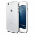 Бампер для iPhone 6 / 6S SGP-Spigen Neo Hybrid EX Series цвет серебристый/silver (SGP11026)