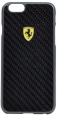 Пластиковый чехол-накладка для iPhone 6 Plus / 6S Plus Ferrari Formula One Hard Real Carbon цвет black FESCCBHCP6LBL