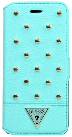 Чехол для iPhone 6 Plus / 6S Plus Guess Tessi Booktype цвет голубой/light green GUFLBKP6LSTG – фото 11595.41