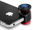 Объектив для iPhone SE/5S/5 Olloclip 3 in 1, цвет red