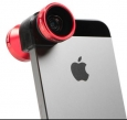 Объектив для iPhone SE/5S/5 Olloclip 4 in 1, цвет red (OCEU-IPH5-FW2W-RB-B)