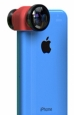 Объектив для iPhone 5C Olloclip 3 in 1, цвет Pink (OCEU-5C-FWM-BKPK)