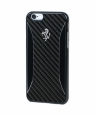 Пластиковый чехол-накладка для iPhone 6 / 6S Ferrari GT EXPERIENCE Collection Hard Case Carbon Fiber - Brushed Aluminium цвет black FERCHCP6BK