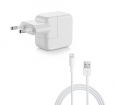 Комплект адаптер Apple 12W USB Power Adapter (MD836ZM/A) + кабель Apple Lightning to USB Cable (MD818ZM/A) 1m, цвет белый