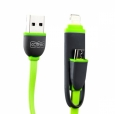 USB ������ � �������� ��� iOS & Android COTEetCl A5 series combo retractable cable 1.0 � ���� ������� CS2040-GR