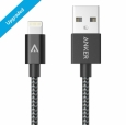 Кабель USB - Lightning Anker Nylon-Braided (1.8 м), цвет черный (A7114011)