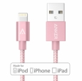 ������ ��� ������� / ������������� iPhone � iPad  Anker Nylon-Braided  USB-Lightning (1,8 �) ���� pink A7114051
