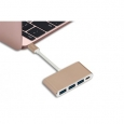 Адаптер для MacBook Momax Type-C 4-Port Adapter, цвет Gold (DHC1)