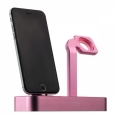 Док-станция для iPhone и Apple Watch COTEetCI Base5 Dock 2in1 stand цвет pink CS2095-PK