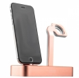 ���-������� ��� iPhone � Apple Watch COTEetCI Base5 Dock 2in1 stand ���� pink Gold CS2095-MRG