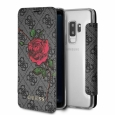 Чехол-книжка для Samsung Galaxy S9 Plus Guess Flower desire 4G Booktype, цвет серый (GUFLBKS9L4GROG)
