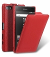 Кожаный чехол для Sony Xperia Z5 Compact Melkco Premium Leather Case Jacka Type цвет red
