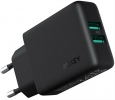Сетевое зарядное устройство Aukey Dual-Port USB Wall Charger with GaN Power Tech 24W (PA-U50 GAN)
