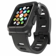 Алюминиевый чехол для Apple Watch series 1 42 mm Lunatik EPIK Aluminum Case + Silicone Band, цвет черный (EPIK-007)