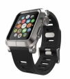 ����������� ����� ��� Apple Watch 42 mm Lunatik EPIK Aluminum Case + Silicone Band ���� silver/Black EPIK-008