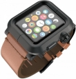 Алюминиевый чехол для Apple Watch series 1 42 mm Lunatik EPIK Aluminum Case + Leather Band цвет Black/Brown (EPIK-012)